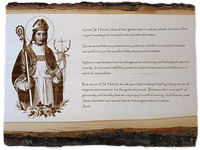St Hubert Prayer rendered on wood