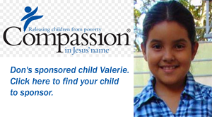 """Don's sponsored child Valerie. Click here to find your child to sponsor."