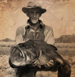 Photo of George Perry with his record largemouth - June 2,   1932