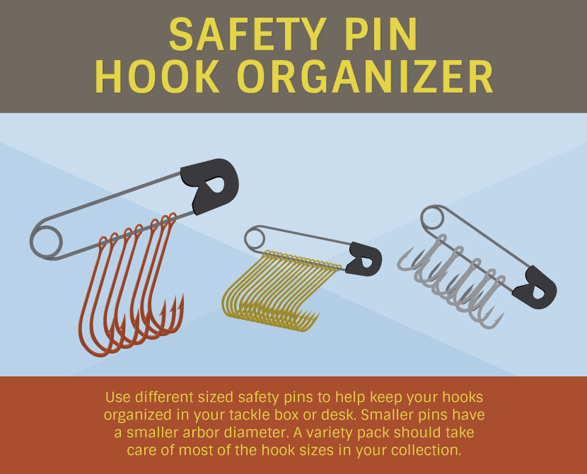 safety pin hook organizer